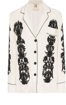 Figue Sara Embroidered Silk Top