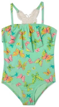 Hula Star Toddler Girl's 'Dreamy Butterfly' One-Piece Swimsuit