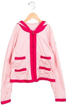 Moncler Girls' Lightweight Hooded Jacket