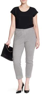 Atelier Luxe Patterned Ankle Pants (Plus Size)