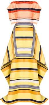 Christian Siriano California Stripe Overlay Gown