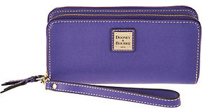 Dooney & Bourke Saffiano Leather Double Zip Wallet - ONE COLOR - STYLE