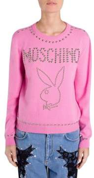Moschino Playboy Studded Logo Sweater