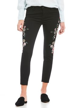 Celebrity Pink Embroidered Ankle Skinny Jeans