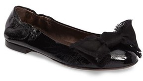 AGL Women's Satin Bow Ballet Flat