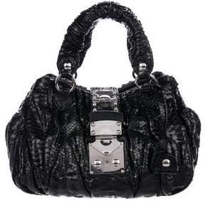 Miu Miu Python Handle Bag