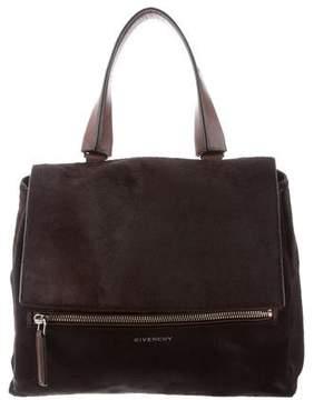 Givenchy Ponyhair Leather-Trim Satchel
