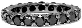 Black Diamond Pompeii3 3 1/2CTTW & Black Gold Womens Eternity Stackable Ring