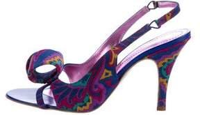 Etro Printed Slingback Sandals