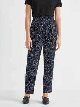 Frank and Oak Dropped Crotch Trouser in Printed Blue Dots