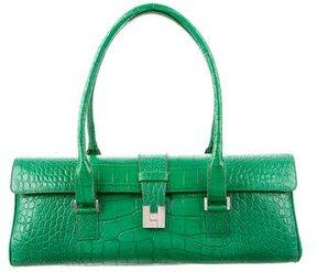 Lambertson Truex Crocodile East/West Shoulder Bag