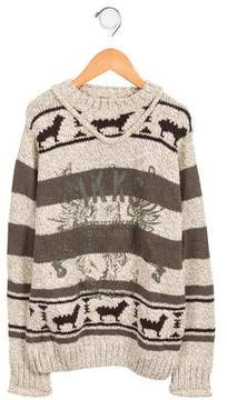 Ikks Boys' Patterned Long Sleeve Sweater w/ Tags