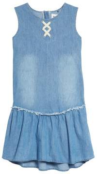 Hudson Lulu Lace-Up Chambray Dress