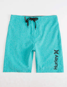 Hurley Heathered One & Only Teal Green Boys Boardshorts