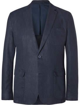 Orlebar Brown Blue Edgar Slim-Fit Unstructured Linen Blazer