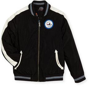 Stella McCartney Eastwood Reversible Helmet Varsity Jacket, Size 4-6