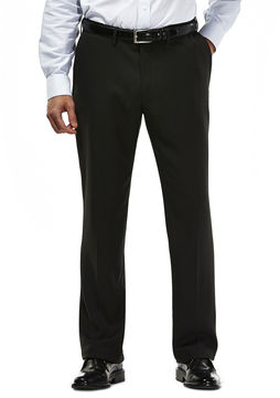 Haggar 2-Tone Plaid Microfiber Dress Pants