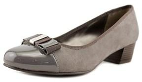 Karen Scott Darragh Women Round Toe Canvas Gray Heels.