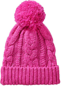 Joe Fresh Women's Cable Knit Hat, Fuchsia (Size O/S)