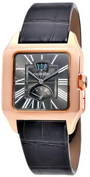Cartier Santos Dumont Gray Galvanized Flinque Dial Men's Watch