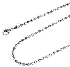 Armani Exchange Jewelry Stainless Steel 24-inch 3.2mm Ball Chain Necklace.