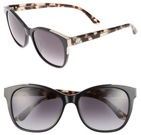 Juicy Couture Women's Black Label 56Mm Cat Eye Sunglasses - Black