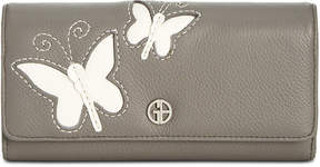 Giani Bernini Leather Butterfly Receipt Manager Wallet, Created for Macy's