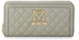 Love Moschino Logo Quilted Zip-Around Wallet
