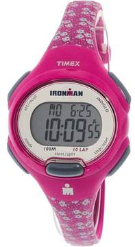 Timex Women's Ironman Essential 10 Mid-Size Pink Watch, Resin Strap