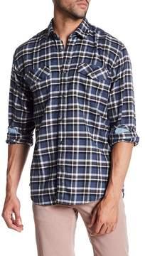 James Campbell Plaid Long Sleeve Regular Fit Shirt