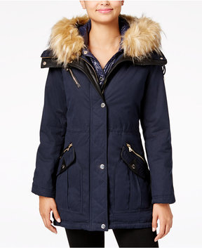 GUESS 2-in-1 Mixed-Media Anorak, A Macy's Exclusive