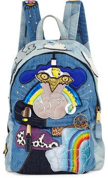 Marc Jacobs Biker Denim Patches Backpack, Blue - BLUE - STYLE