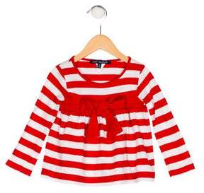 Lili Gaufrette Girls' Striped Knit Top
