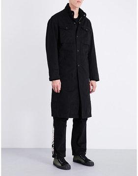 MHI Stand-collar denim coat