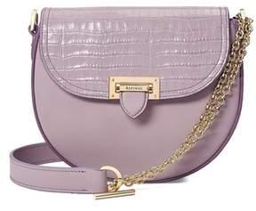 Aspinal of London | Portobello Bag In Deep Shine Lilac Small Croc Smooth Lilac | Smooth lilac