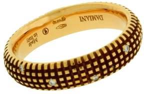 Damiani 18K Yellow Gold 0.07ct. Diamond Band Ring Size 6