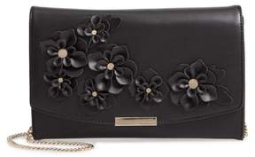 Ted Baker Floral Applique Faux Leather Clutch