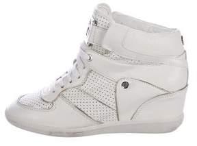 Michael Kors Leather Wedge Sneakers