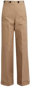 Jil Sander Carlo wide-leg panama trousers