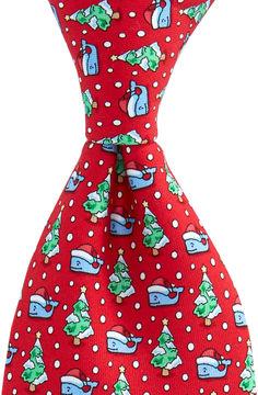 Vineyard Vines Boys Santa Whale & Tree Tie