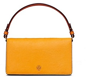 Tory Burch Cleo Calf Hair Fold-Over Clutch - CONGO YELLOW - STYLE