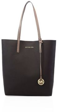 MICHAEL MICHAEL KORS Hayley Large Two-Tone Faux Leather Tote