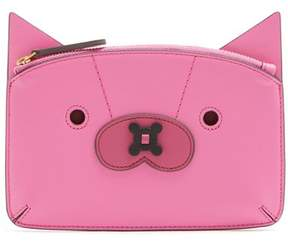 Anya Hindmarch Fox Leather Coin Purse - Womens - Pink