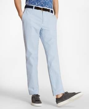 Brooks Brothers Striped Cotton Seersucker Pants