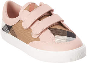 Burberry Kids' House Check Leather Trainer