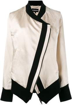 Ann Demeulemeester Bomber Jacket with Contrast Detailing