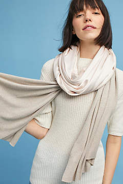 Anthropologie Two-Toned Patched Scarf
