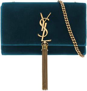 Saint Laurent Small Velvet Monogramme Kate Tassel Chain Bag