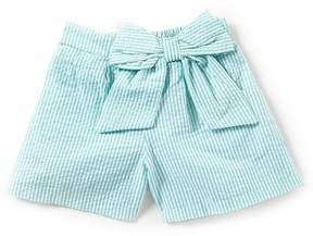 Rare Editions Big Girls 7-16 Seersucker Shorts with Bow