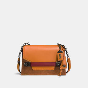COACH Coach Swagger Chain Crossbody In Colorblock - BLACK COPPER/GIFTING ORANGE - STYLE